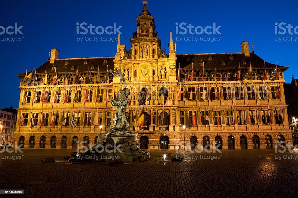 City-Hall from Antwerp stock photo