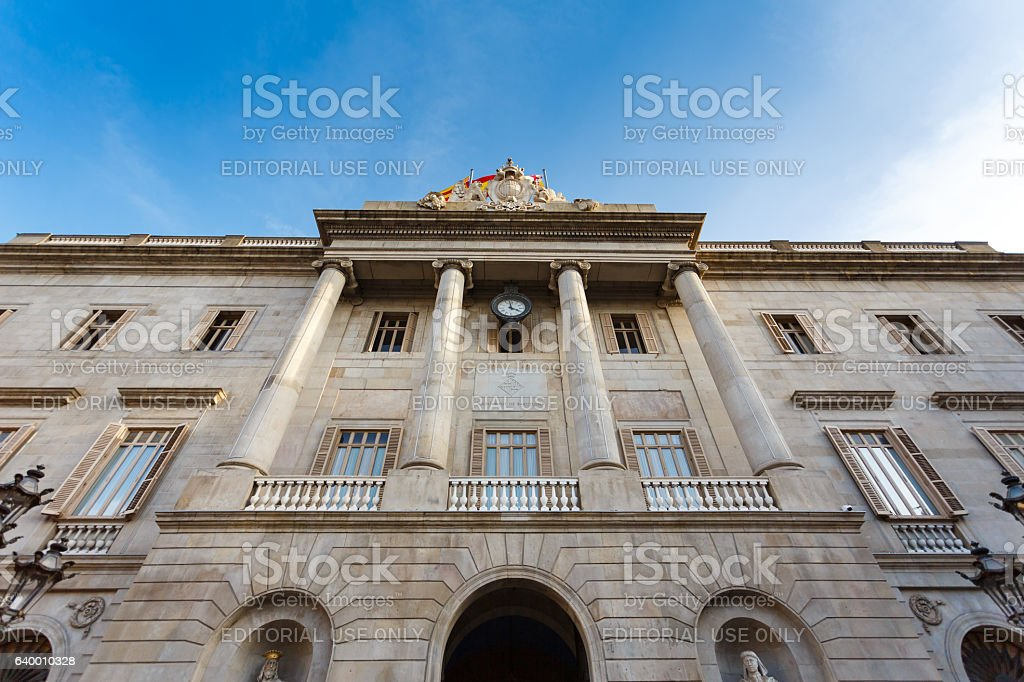Cityhall of Barcelona, Spain stock photo