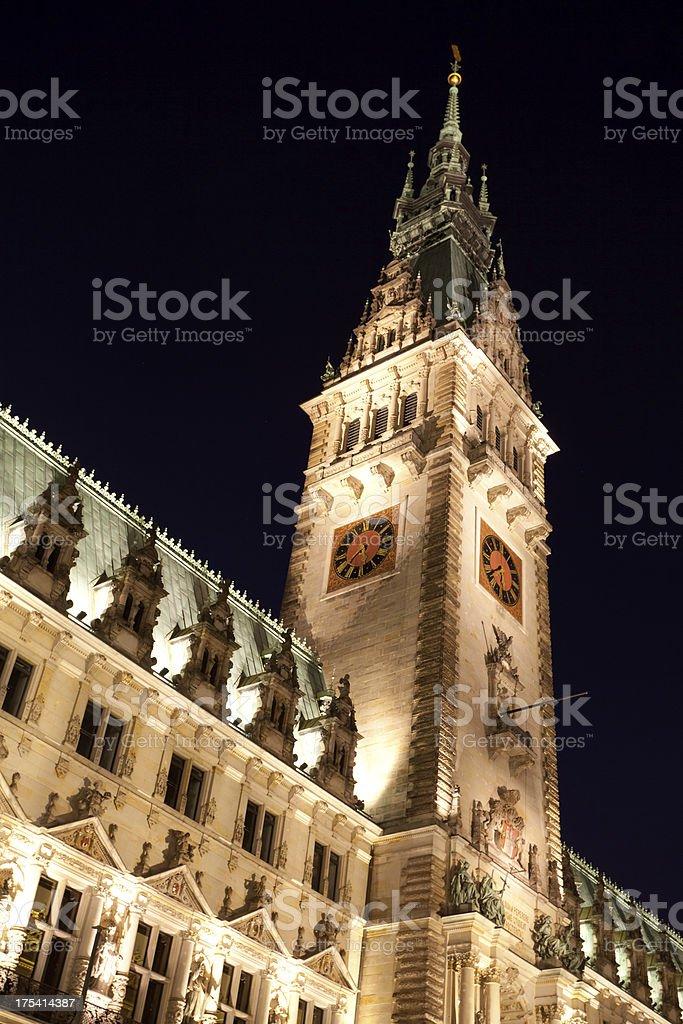 Cityhall of Hamburg stock photo