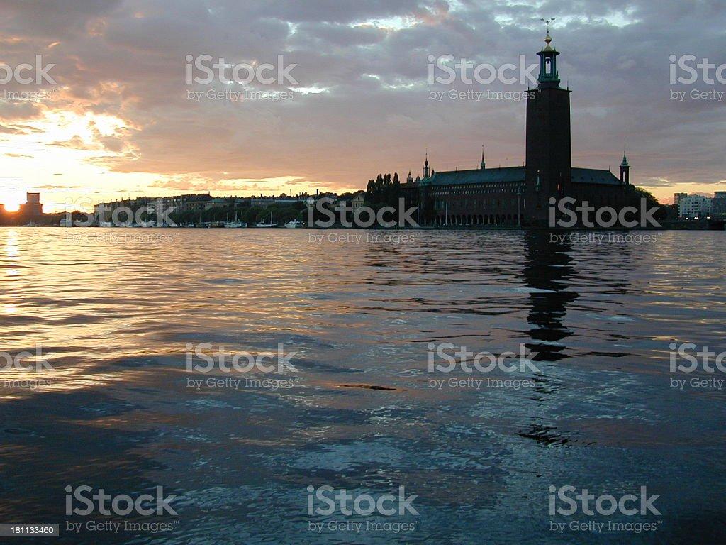 Cityhall, Stockholm royalty-free stock photo