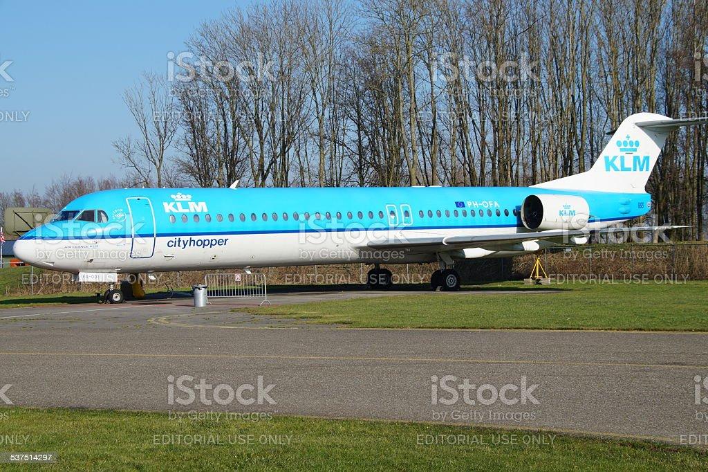 KLM Cityhopper Fokker F100 stock photo