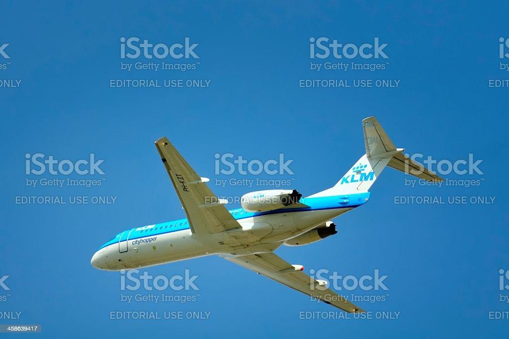 KLM cityhopper royalty-free stock photo