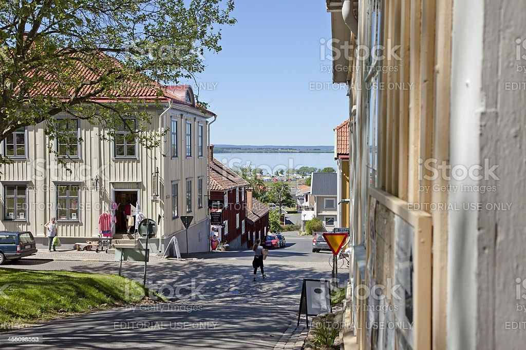 Citylife in Granna, Sweden royalty-free stock photo