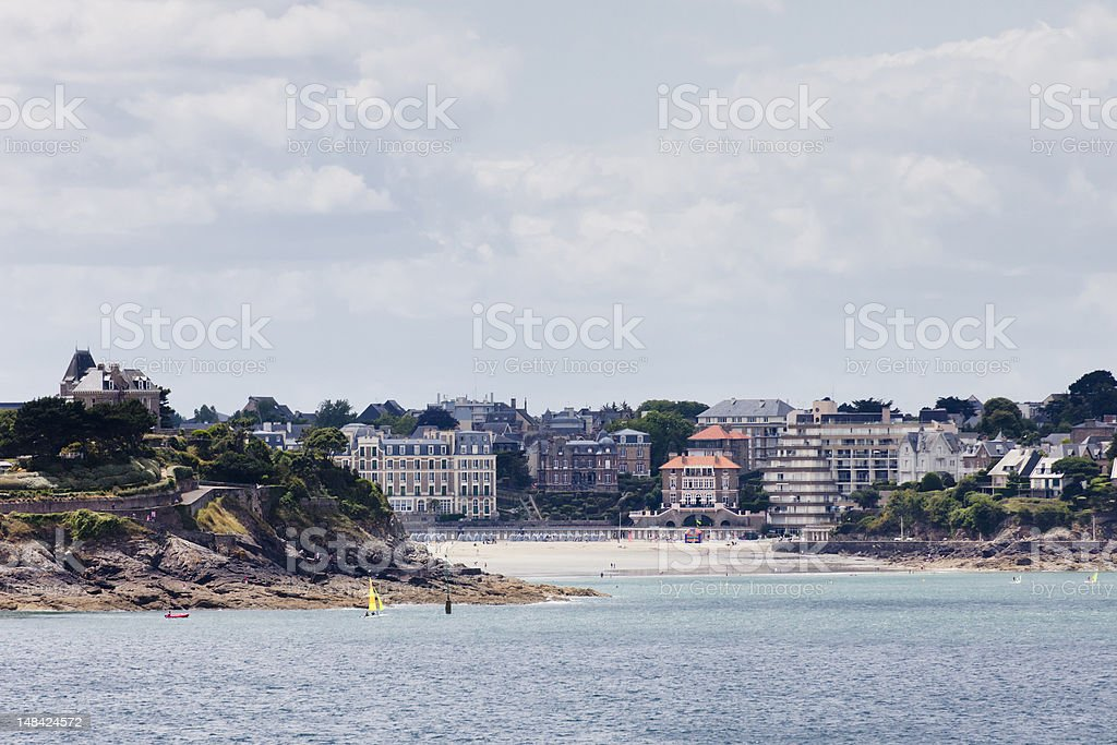 Cityscape and beach of Dinard in Brittany stock photo