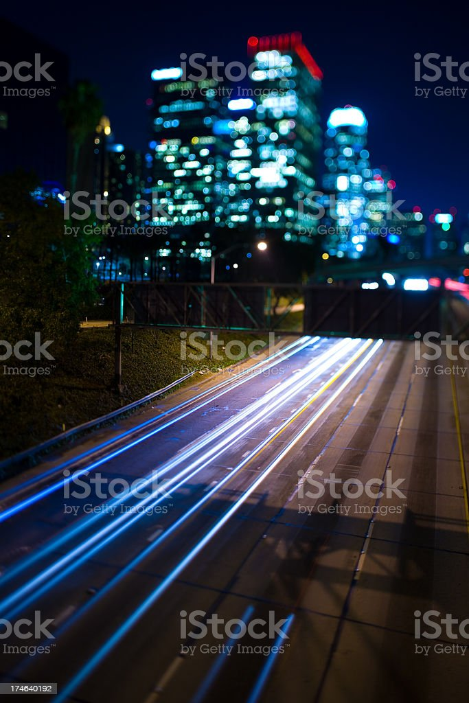 Cityscape and highway royalty-free stock photo