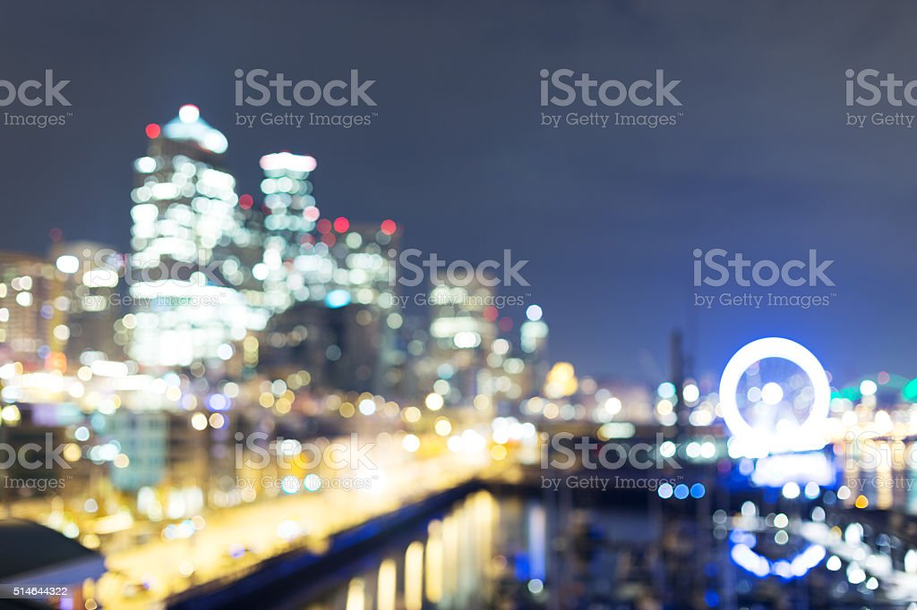 cityscape and night scene of seattle at night stock photo