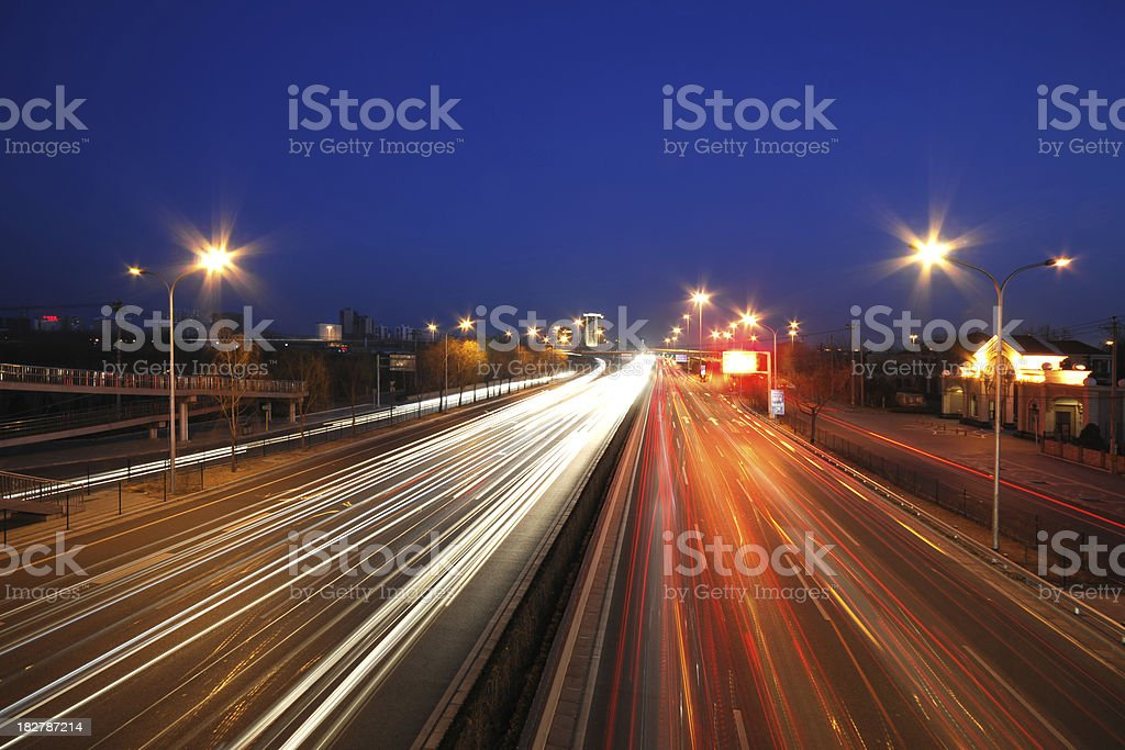 Cityscape and Night Scene royalty-free stock photo