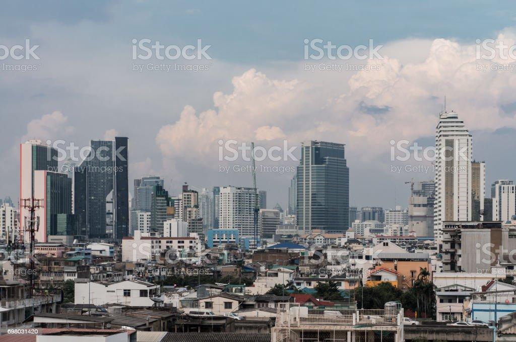 cityscape and skyline of Bangkok, Thailand. stock photo