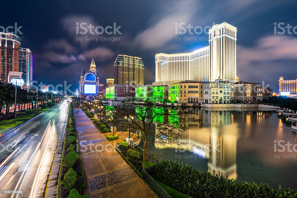 Cityscape and skyscraper of Macao, Asia stock photo