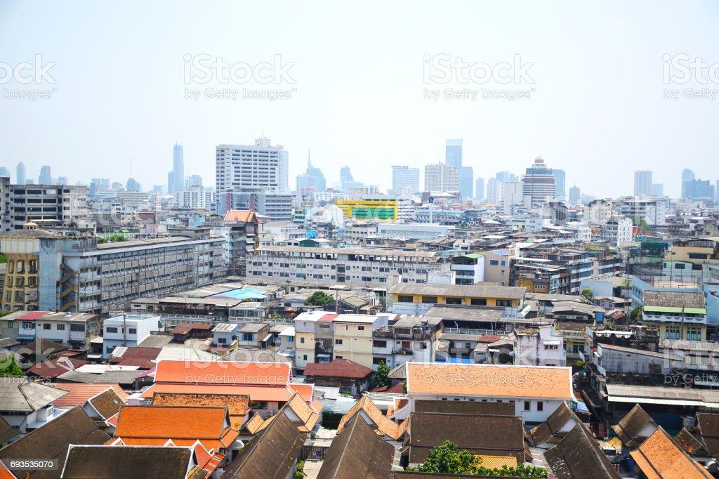 Cityscape area in Bangkok of Thailand stock photo