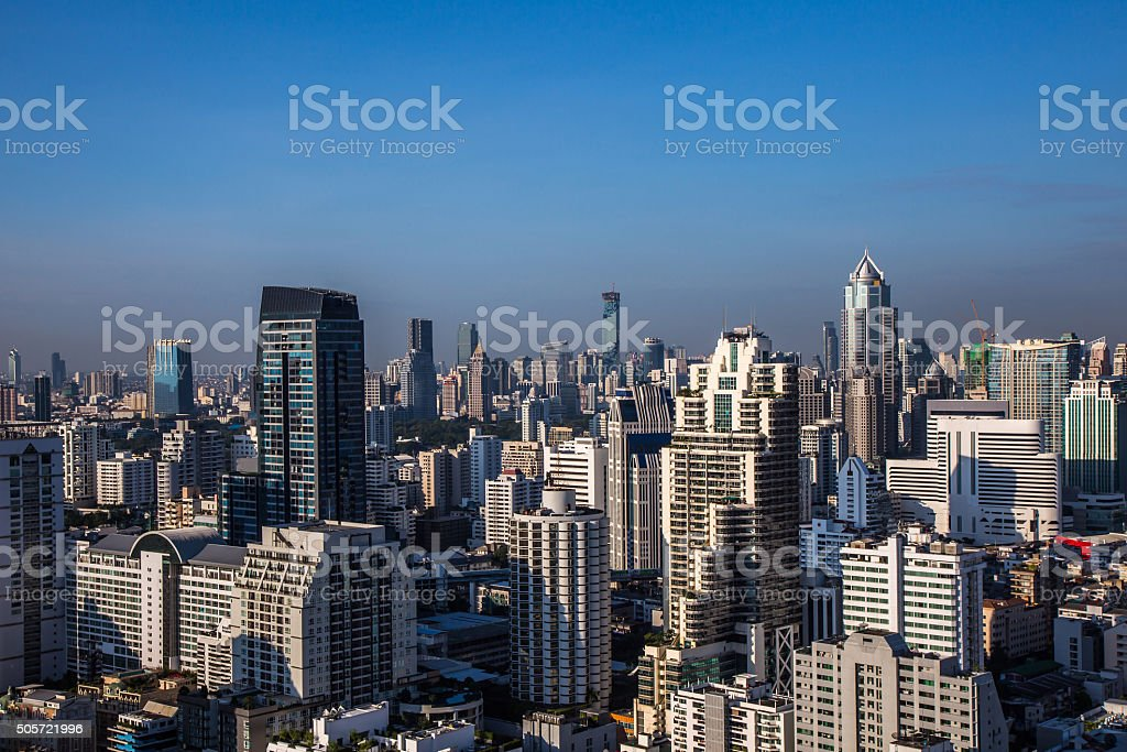 Cityscape at day time stock photo