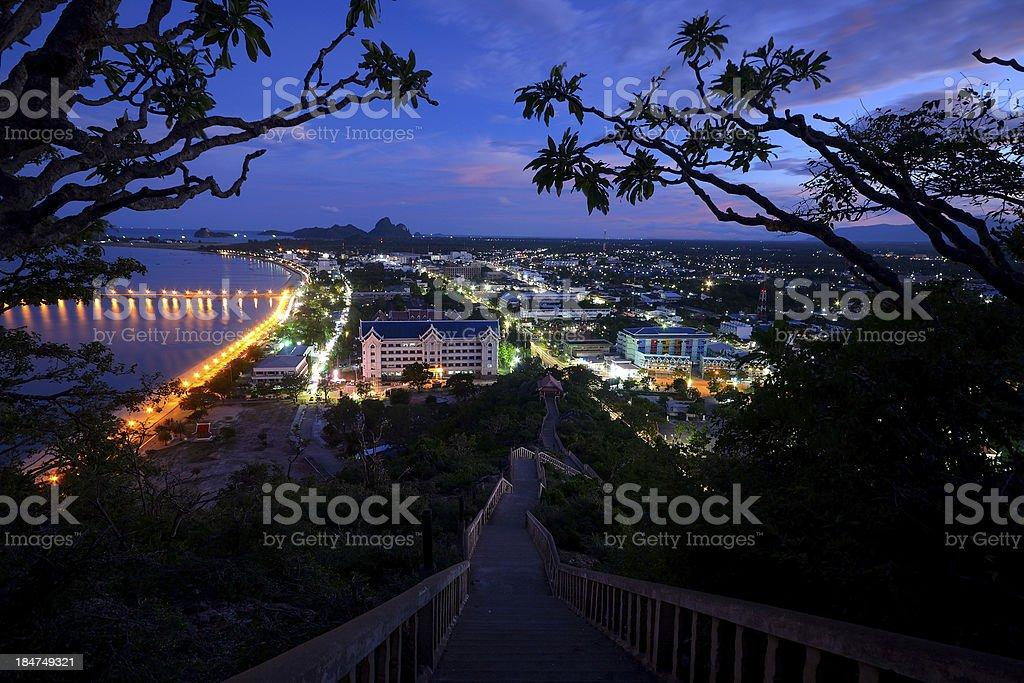 Cityscape at dusk royalty-free stock photo