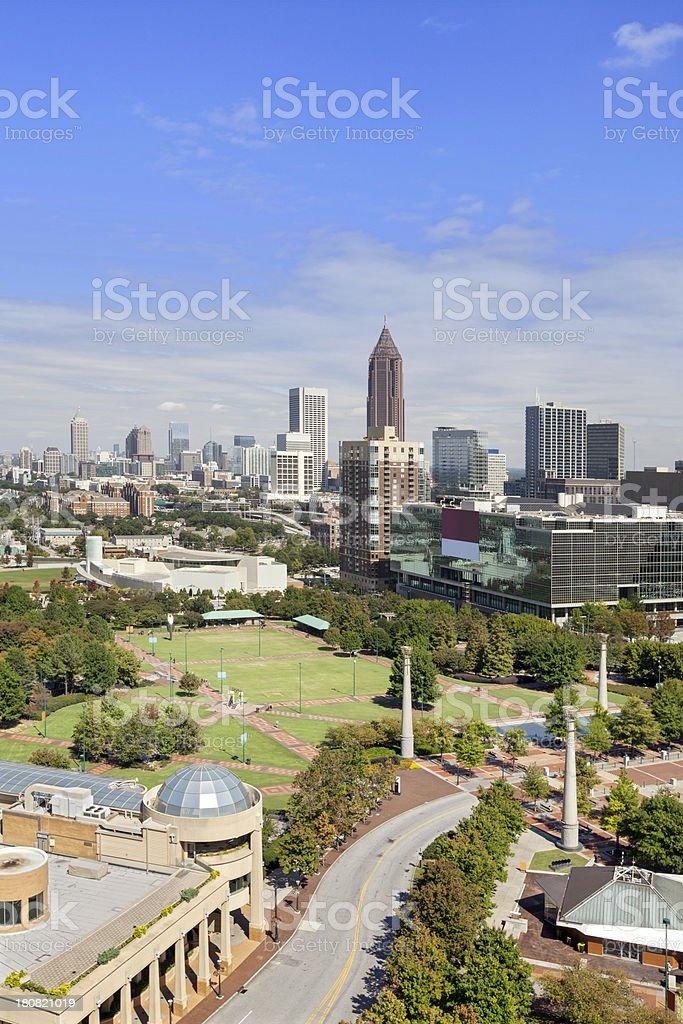 Cityscape: Atlanta Georgia Skyline Daytime stock photo