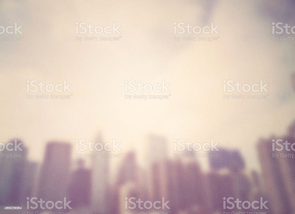 Cityscape backgrounds. Blurred cityscape with texture and grain. NY City. stock photo