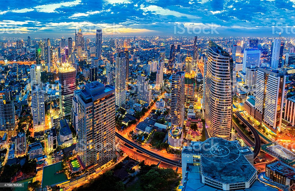 Cityscape bangkok stock photo