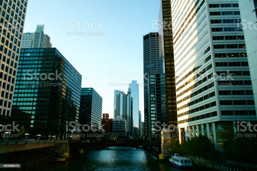 Cityscape- Beautiful Downtown Chicago stock photo