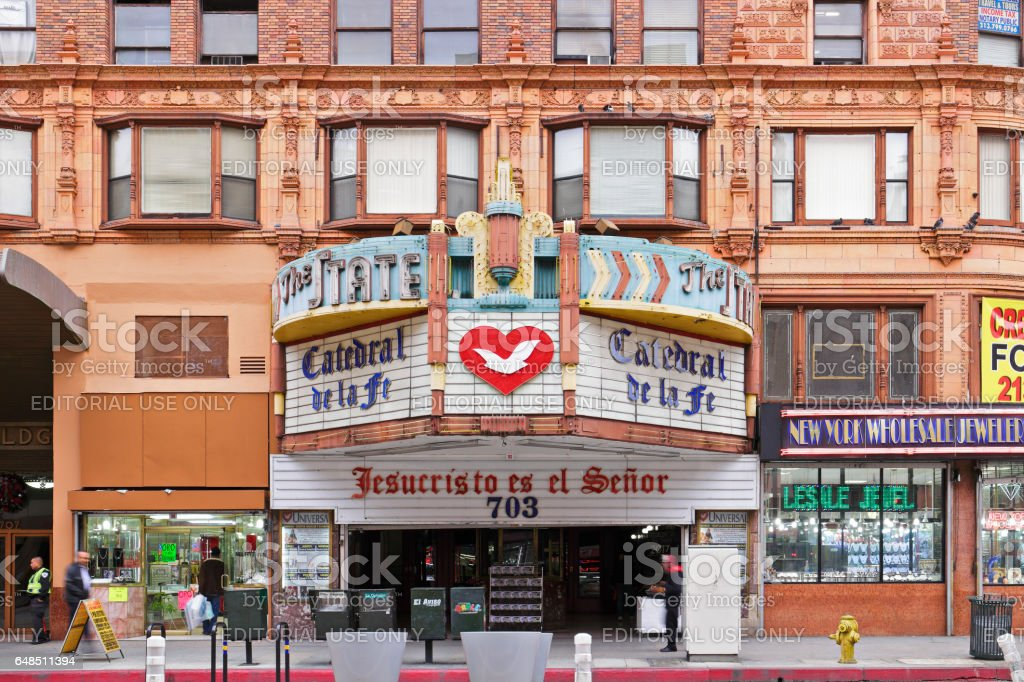 Cityscape - Broadway Theater - Los Angeles stock photo
