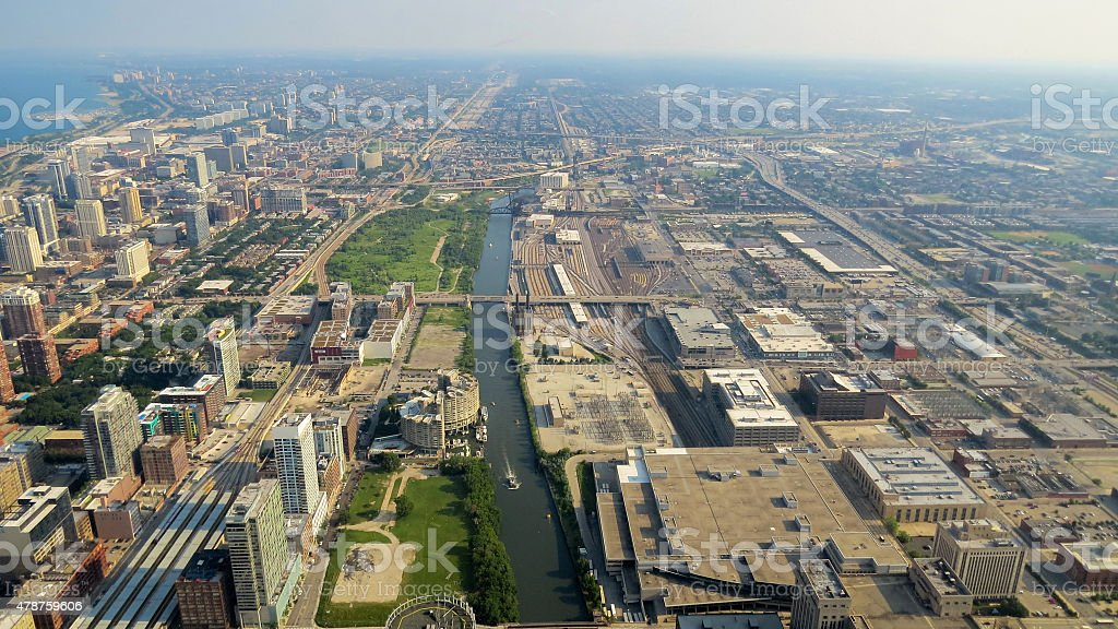 Cityscape - Buildings in Chicago royalty-free stock photo