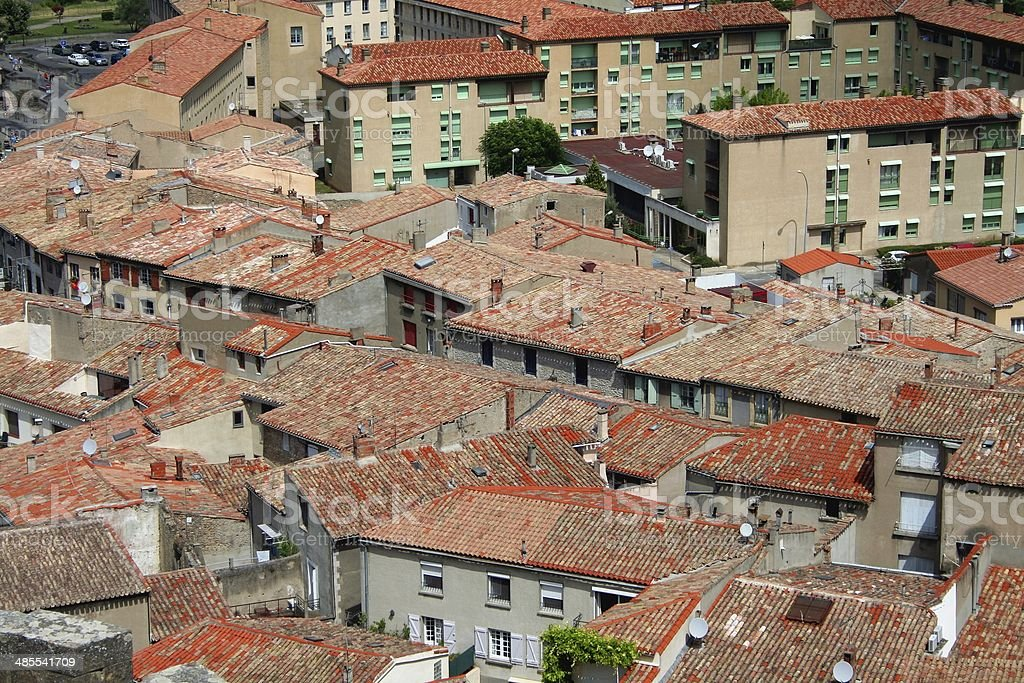 Cityscape Carcassonne France Aerial view royalty-free stock photo