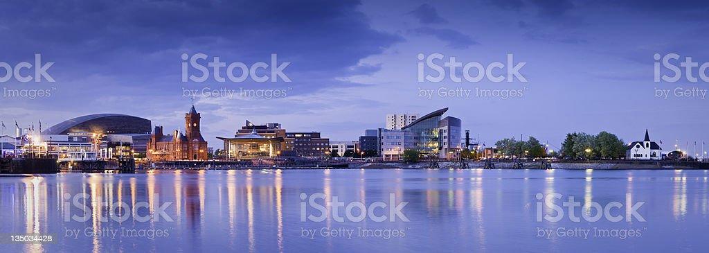 Cityscape, Cardiff Bay royalty-free stock photo