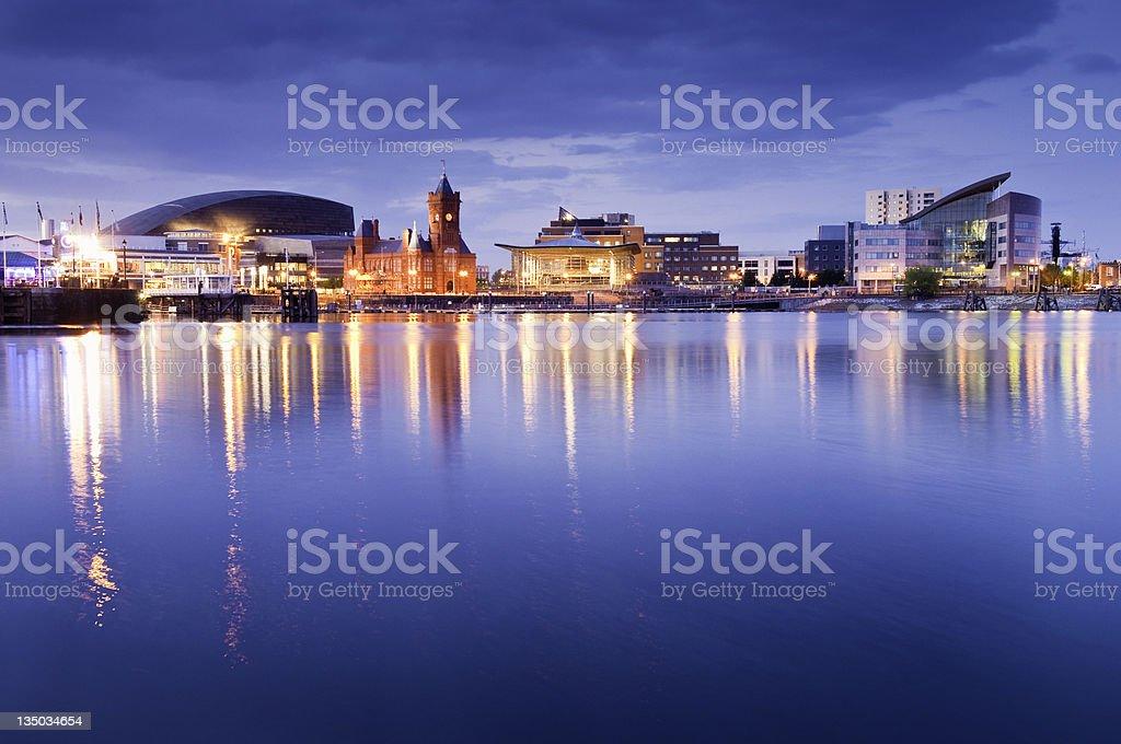 Cityscape, Cardiff Bay stock photo