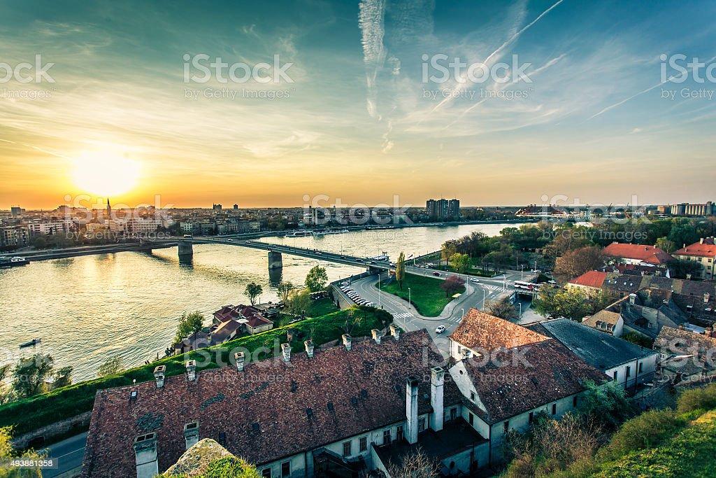 Cityscape from of Novi Sad stock photo