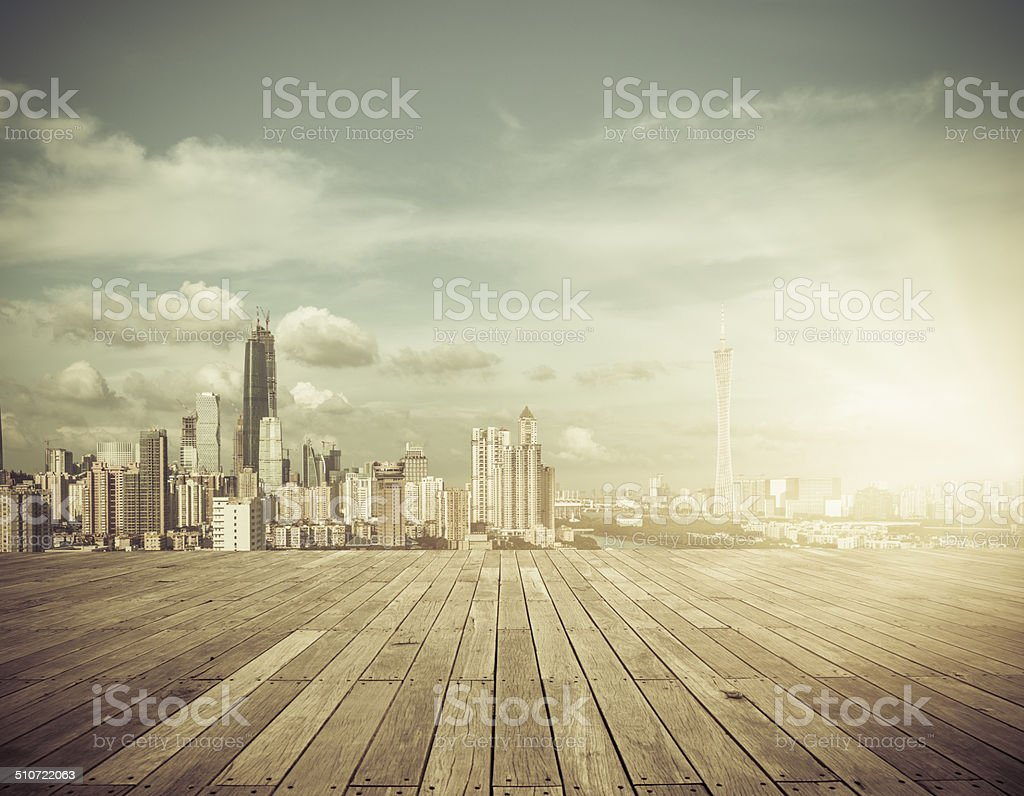 cityscape, guangzhou china stock photo