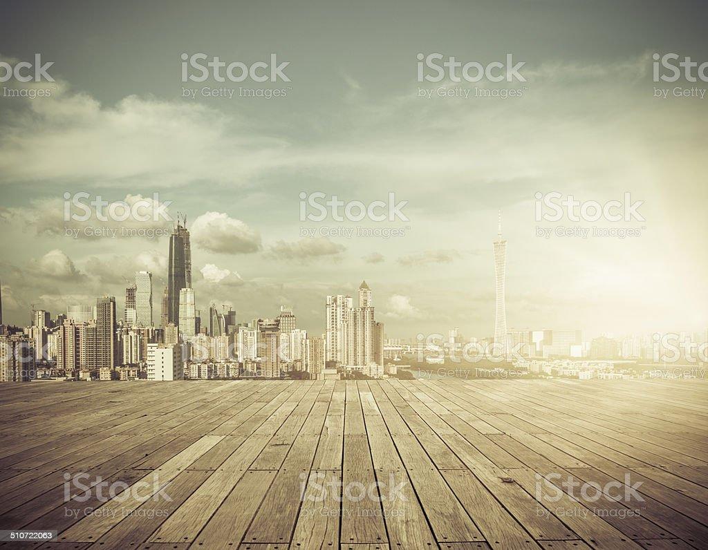 cityscape, guangzhou china stock photo