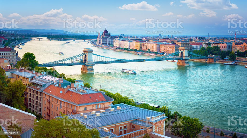 Cityscape in Budapest, Hungary. stock photo