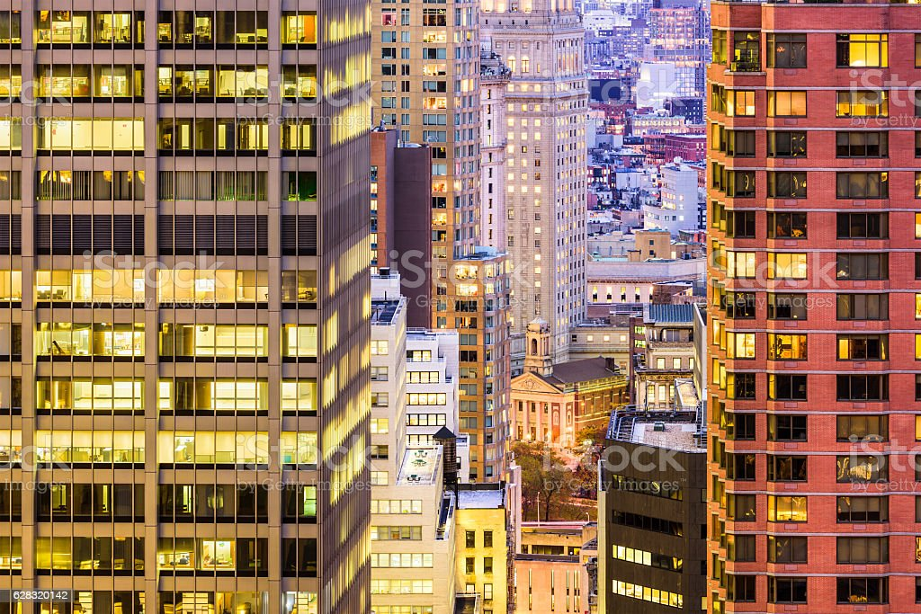 Cityscape in New York stock photo