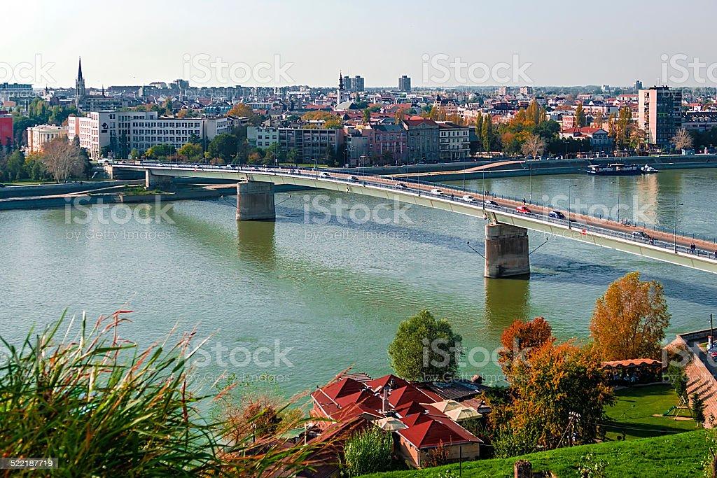 Cityscape in Novi Sad, Serbia stock photo