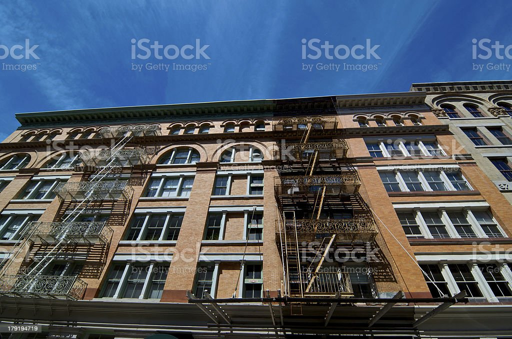 Cityscape in Tribeca Manhattan, New York City stock photo