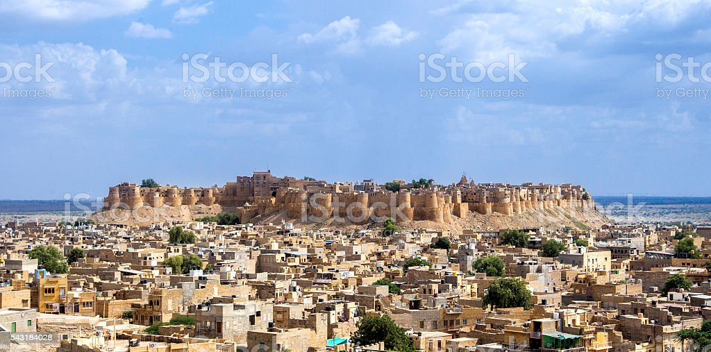 Cityscape, Jaisalmer, Rajasthan, India stock photo