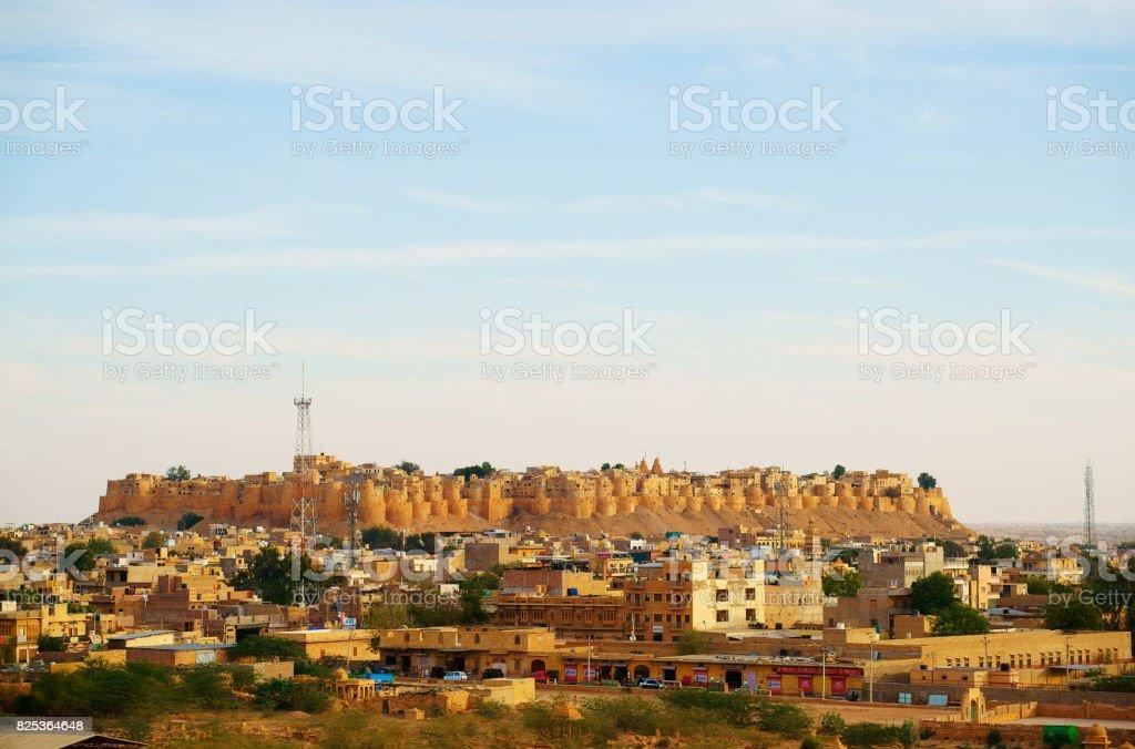 Cityscape, Jaisalmer, Rajasthan, India stock photo