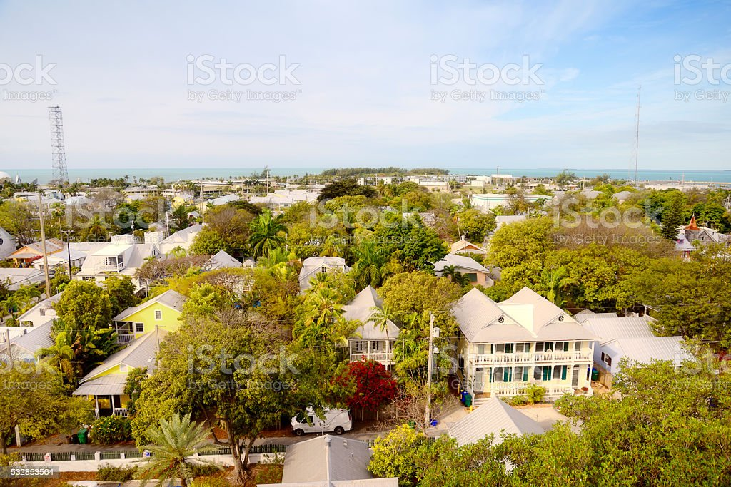 Cityscape, Key West, Florida. Aerial View. stock photo