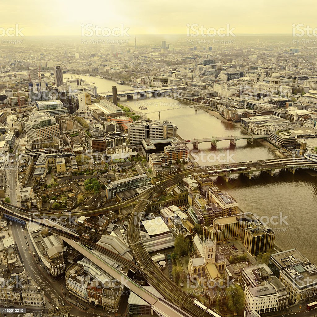 Cityscape, London - England. Aerial View royalty-free stock photo
