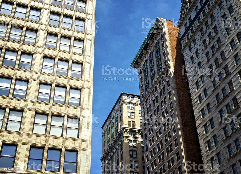 Cityscape, Manhattan, New York City, Early 20th Century Office Buildings royalty-free stock photo