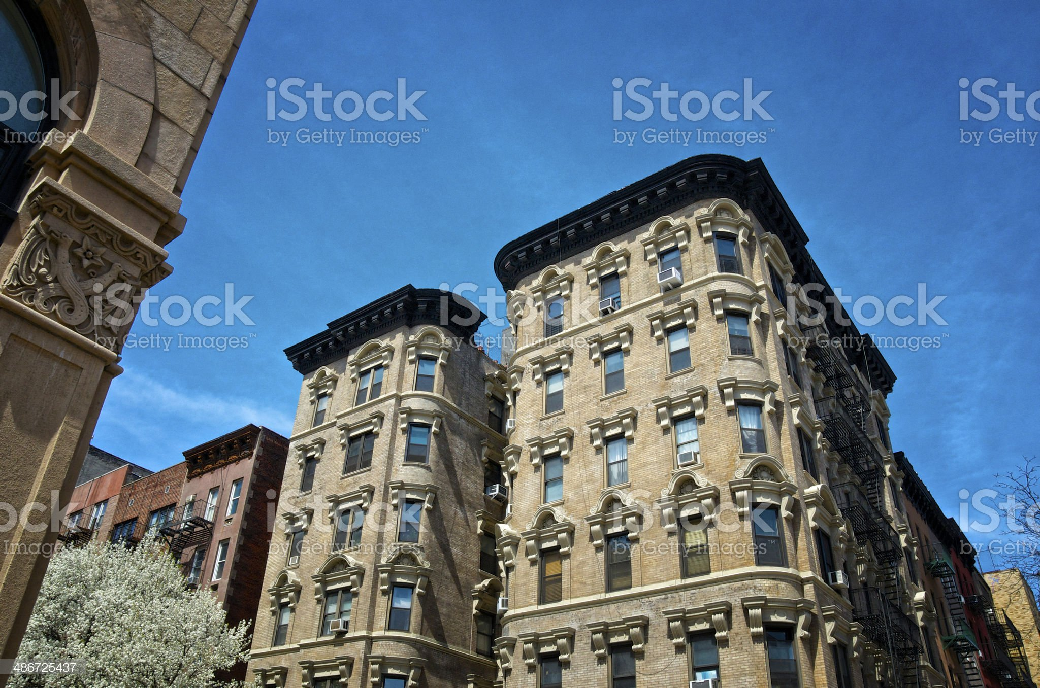 Cityscape, Manhattan, New York City,Early 20th Century Apartment Buildings royalty-free stock photo