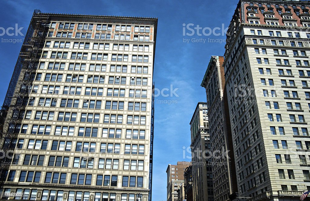 Cityscape, Manhattan, New York City,Early 20th Century Office Building royalty-free stock photo