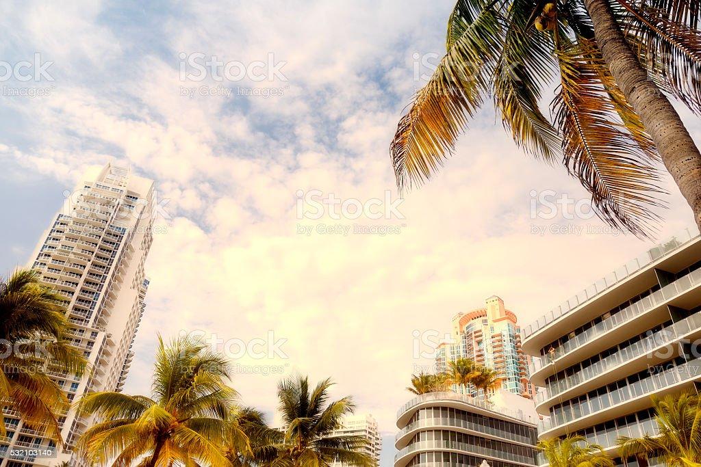 Cityscape, Miami Beach stock photo