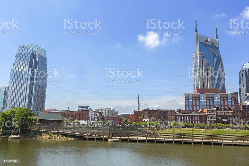 Cityscape: Nashville Tennessee Skyline Daytime stock photo