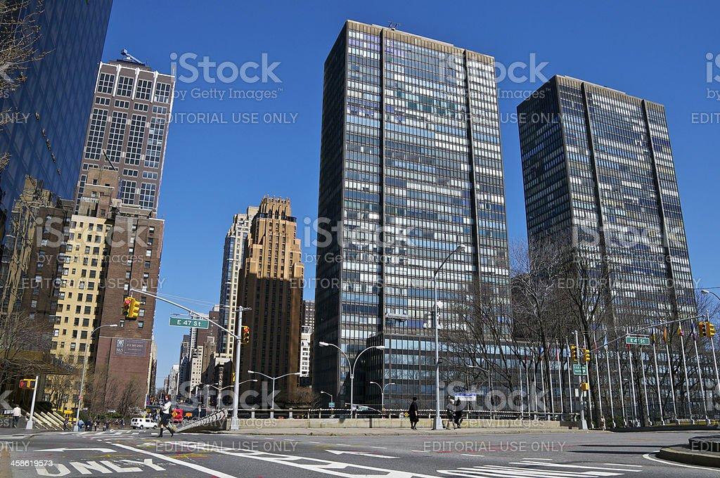Cityscape, New York City, 1st Avenue, East Side of Manhattan stock photo
