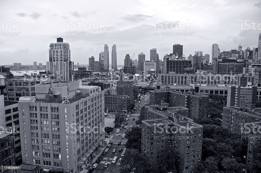 Cityscape, New York City,10th Avenue, West Side of Manhattan royalty-free stock photo