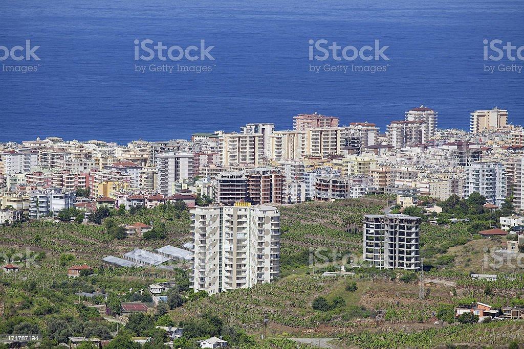 Cityscape of Alanya royalty-free stock photo
