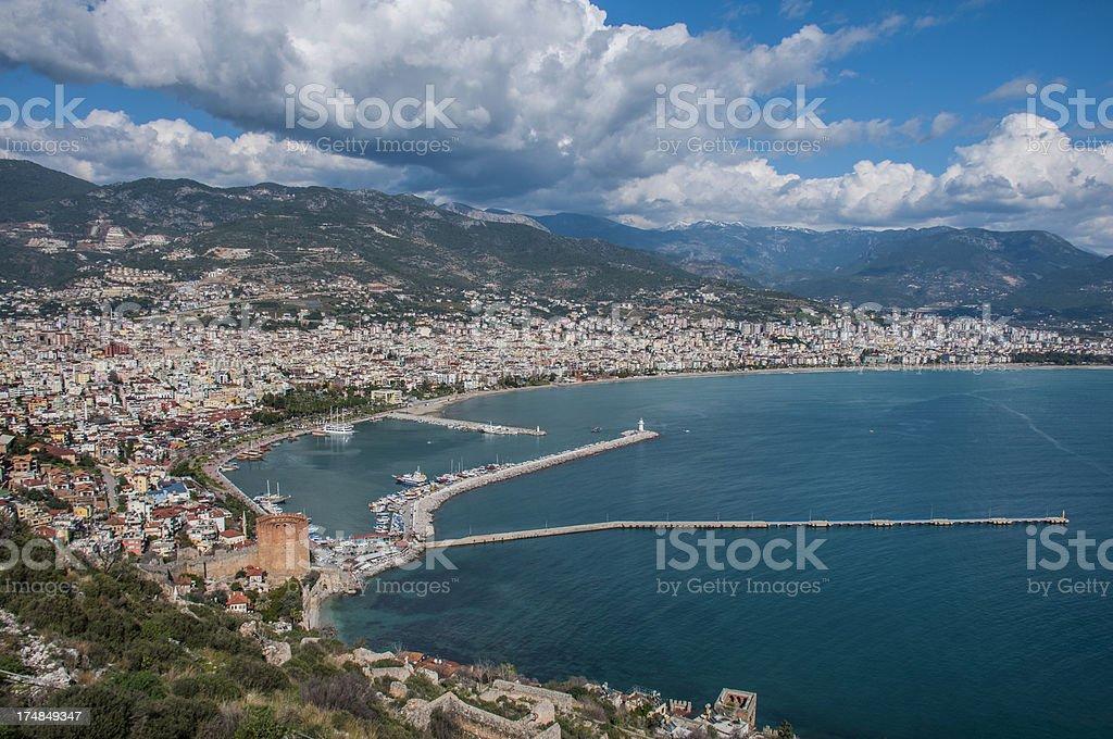 Cityscape of Alanya/Turkey royalty-free stock photo