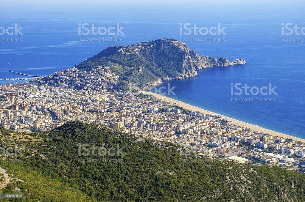 Cityscape of Alanya/Turkey stock photo