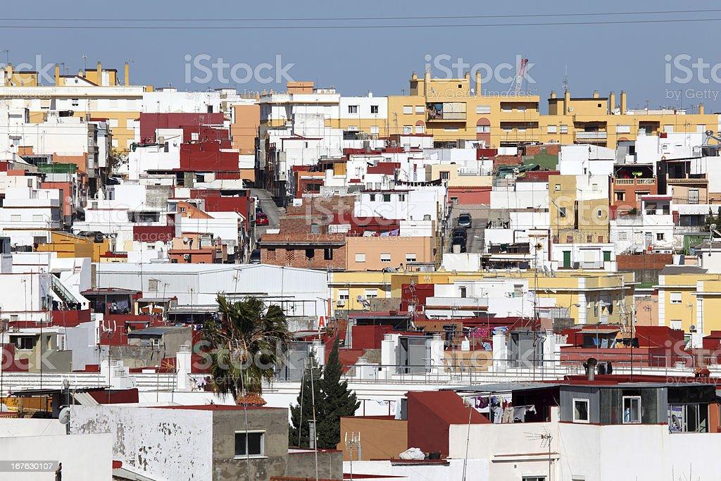 Cityscape of Algeciras, Spain royalty-free stock photo