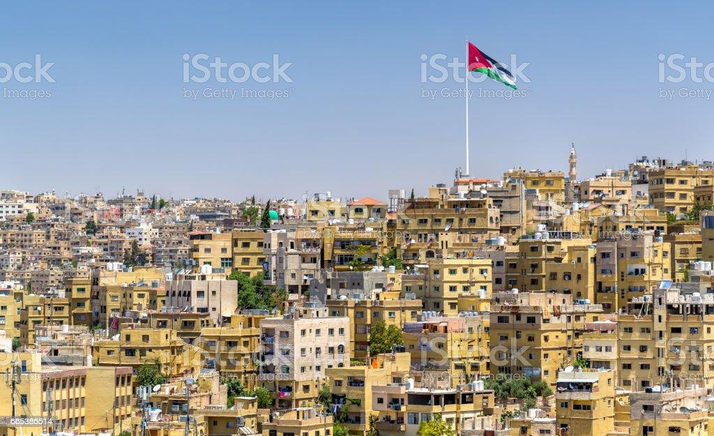 Cityscape of Amman, Jordan stock photo