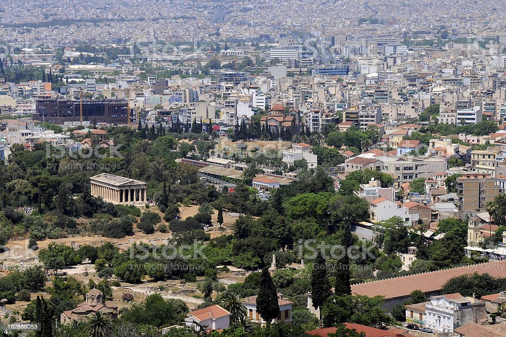 Cityscape of Athens royalty-free stock photo