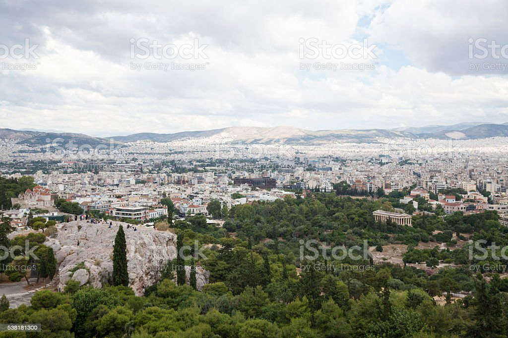 Cityscape of Athens stock photo